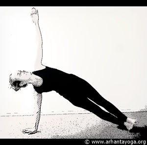 yoga exercise abs side plank