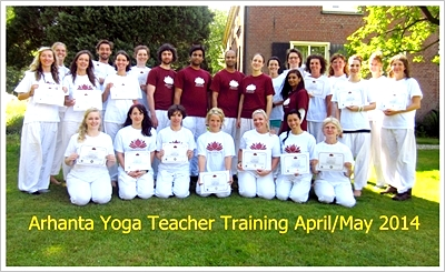 Arhanta yoga teacher training Europe