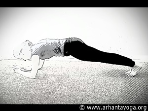 yoga for abs dolphin plank pose